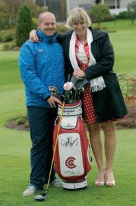 Piret Peerna ja tema elukaaslane, inglane Paul Roocroft, kes töötab Niitvälja Golfikeskuse  head greenkeeper'ina