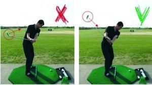 Vasakul fotol näha avatudlaba, mis on olulisekspõhjuseks, miks laba läheneb pallile väljast sisse. Paremal fotol on näha, kuidas laba olema peaks (n-ö vaatama palli).