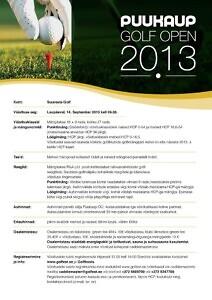 Suuresta Golf - PUUKAUP GOLF OPEN 2013