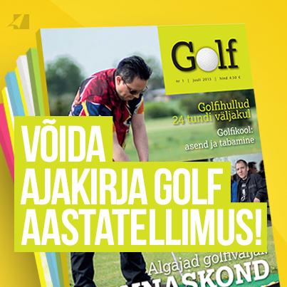 Võida Ajakirja Golf aastatellimus!