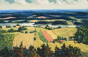Richard Uutmaa. Vaade Suurelt Munamäelt. 1963. Õli, lõuend. 64,5 x 100 cm