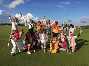 lõbusad golfimängijad